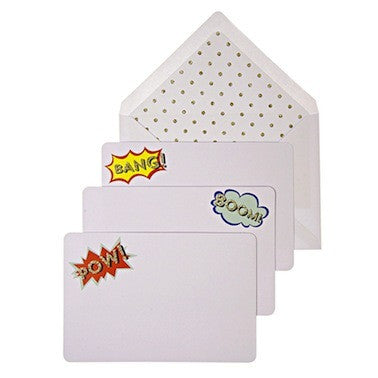 BANG! BOOM! POW! Note Cards