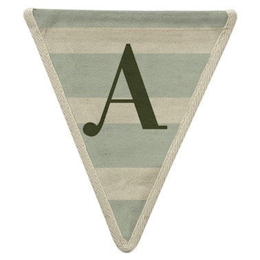Letter A - stripe pattern horizontal blue