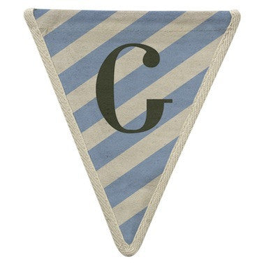 Letter G - diagonal stripe blue