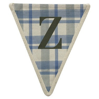 Letter Z - plaid pattern blue