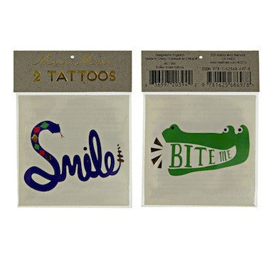 Smile Crocodile Tattoos