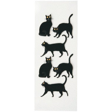 Black Cats Mini Stickers