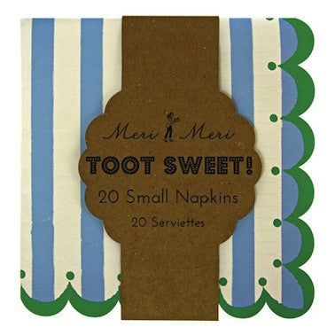 Toot Sweet Blue Stripe Napkins