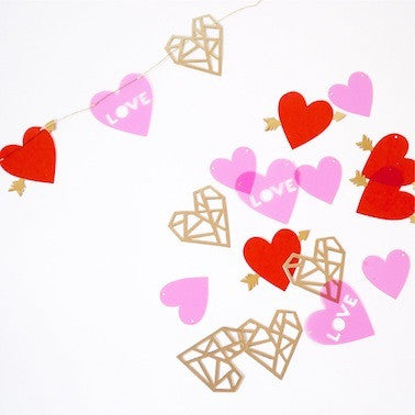 Hearts and Arrows Mini Garland