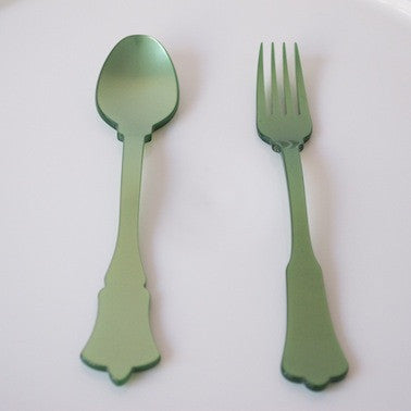 Cake Fork - Old Fashioned, Garden Green