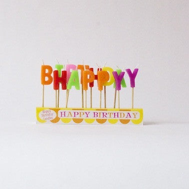 'HAPPY BIRTHDAY' Candle Set