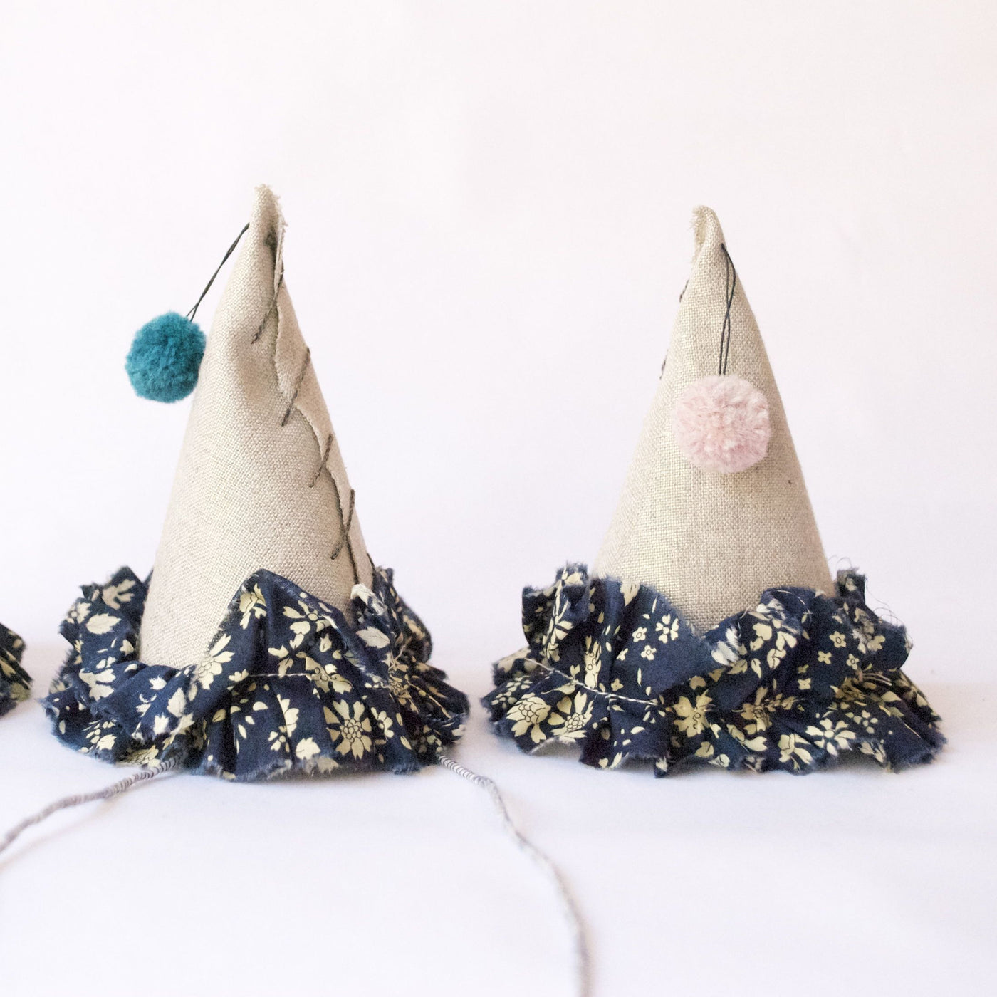 Petit Party Hat - Navy Floral