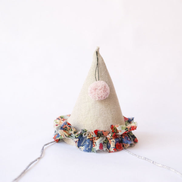 Petit Party Hat - Blue, Red & Green Floral