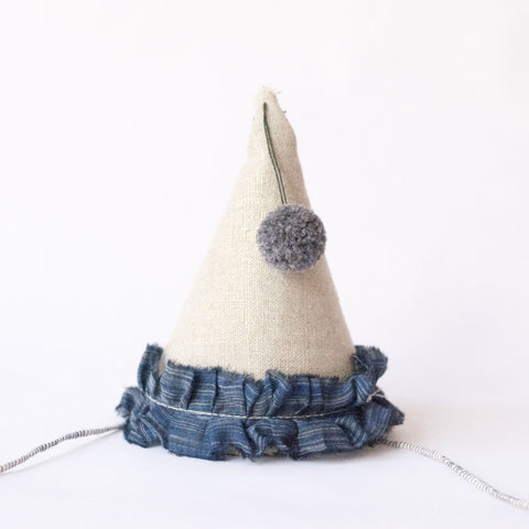 Petit Party Hat - Indigo