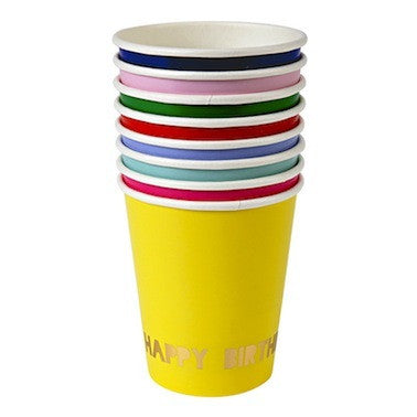 Happy Birthday Party Cups