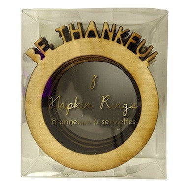 Be Thankful Napkin Rings