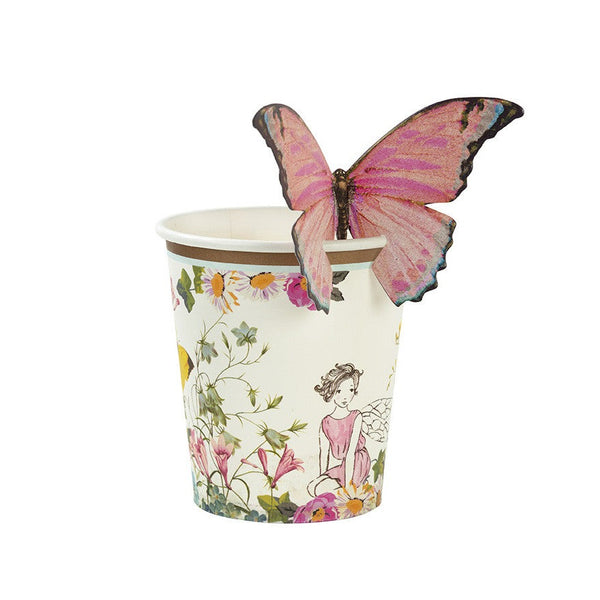 Truly Fairy Paper Cups & Butterfly Clips