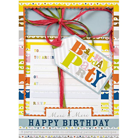 Happy Birthday - Party Invitations