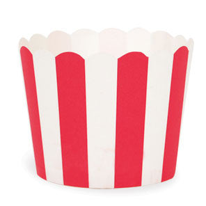 Red Stripes Baking Cups