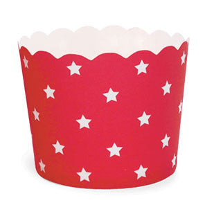 Red Stars Baking Cups