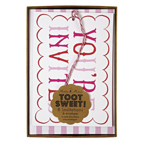 Toot Sweet -  Pink Invitations