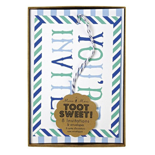 Toot Sweet -  Blue Invitations