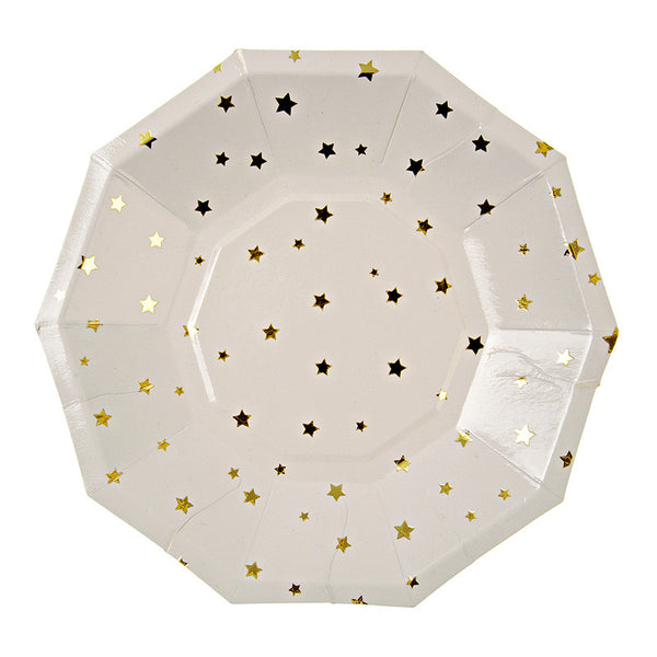 Gold Stars Small Party Plates