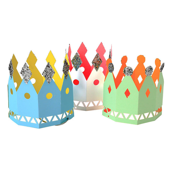 Multicolored Party Crowns