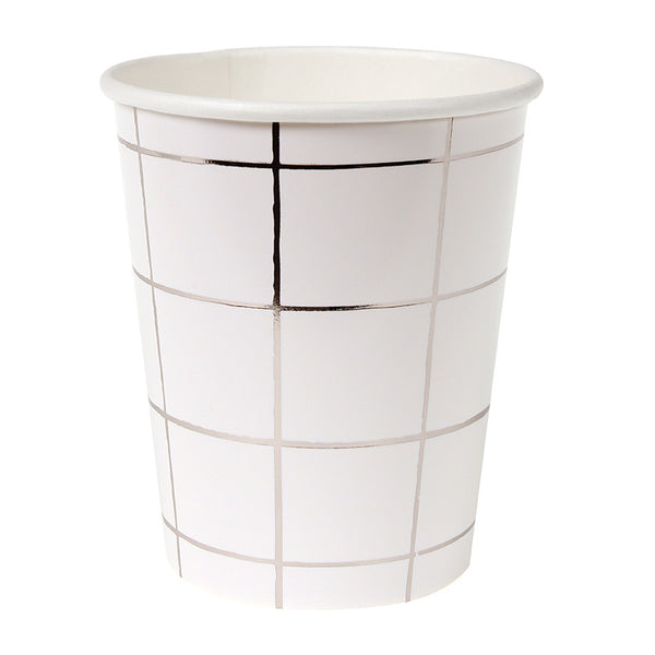 Silver Grid Party Cups