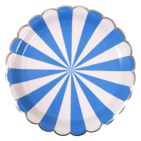 Blue Stripe Dinner Plates