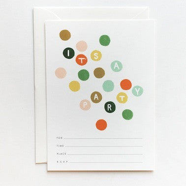 Colored Dots Invitations