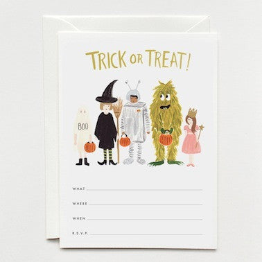 Halloween Lineup Invitations