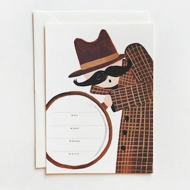 Sleuth Party Invitations