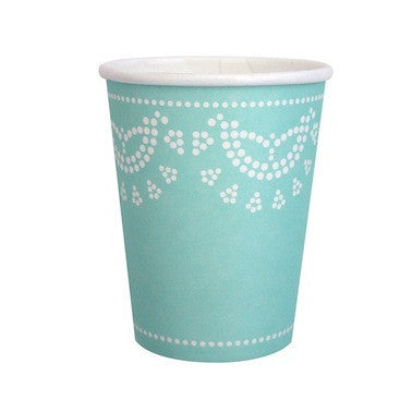 Tiffanesque Blue Paper Cups