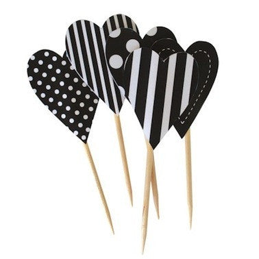 Black Tie Hearts Toppers