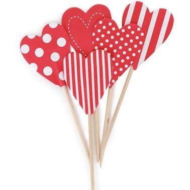 Candy Cane Hearts Toppers