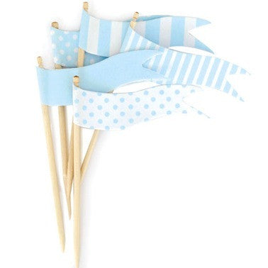 Powder Blue Flags Toppers