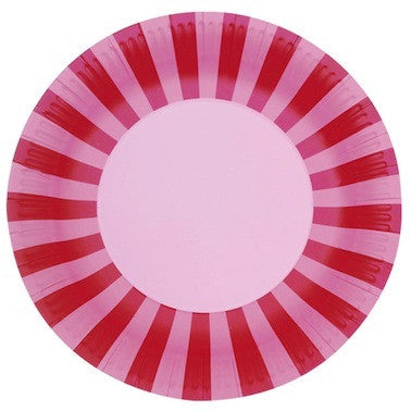 Pink Candyfloss Paper Plates