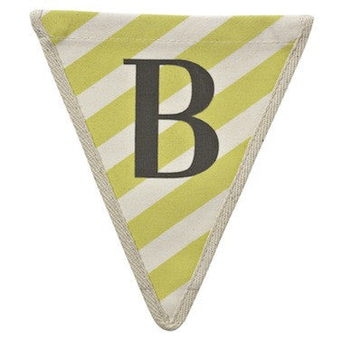 Letter B - stripe pattern yellow