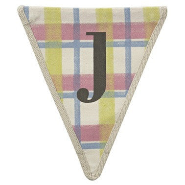 Letter J - plaid pattern multi