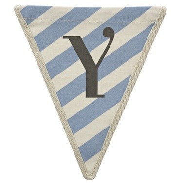 Letter Y - diagonal stripe blue