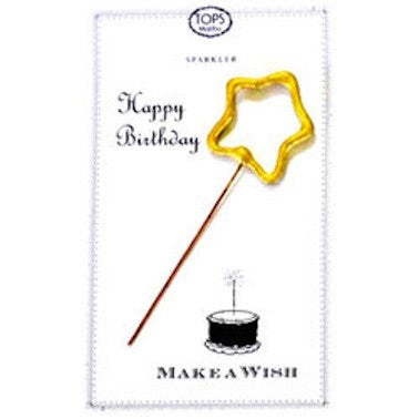 Sparkler Card Happy Birthday