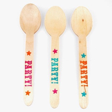 PARTY! Wooden Spoons