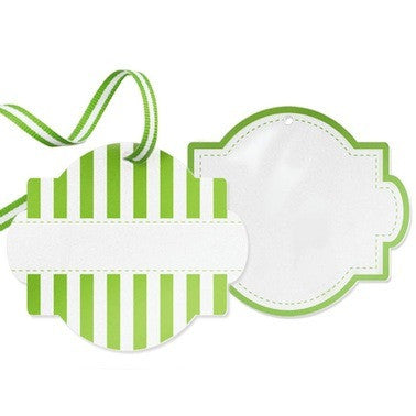 Apple Green Favor Tags