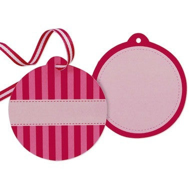 Pink Candyfloss Favor Tags