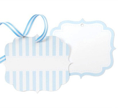 Powder Blue Favor Tags