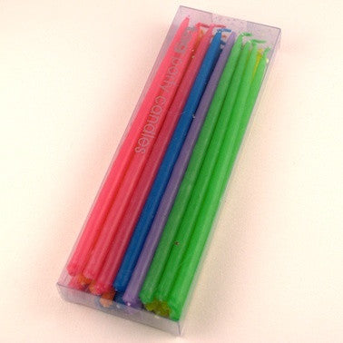 Assorted Mini Taper Candles - Multi Colored