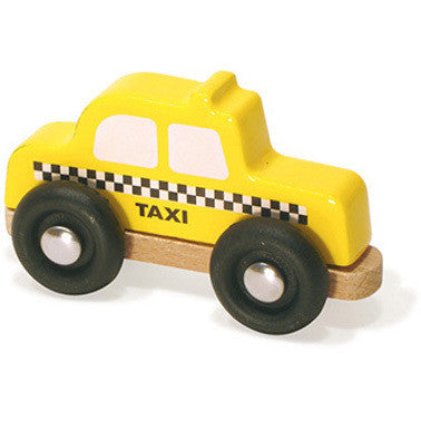 Wooden Yellow Taxi