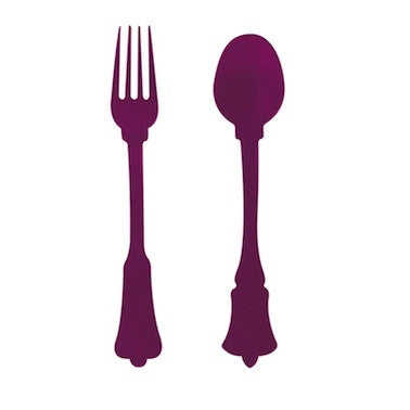 Cake Fork - Old Fashioned, Purple