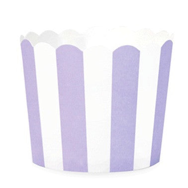 Lilac Berry Stripes Baking Cups