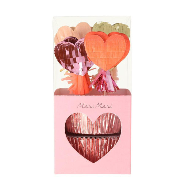 Piñata Hearts Cupcake Kit