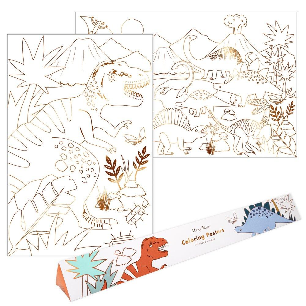 Dinosaur Coloring Posters