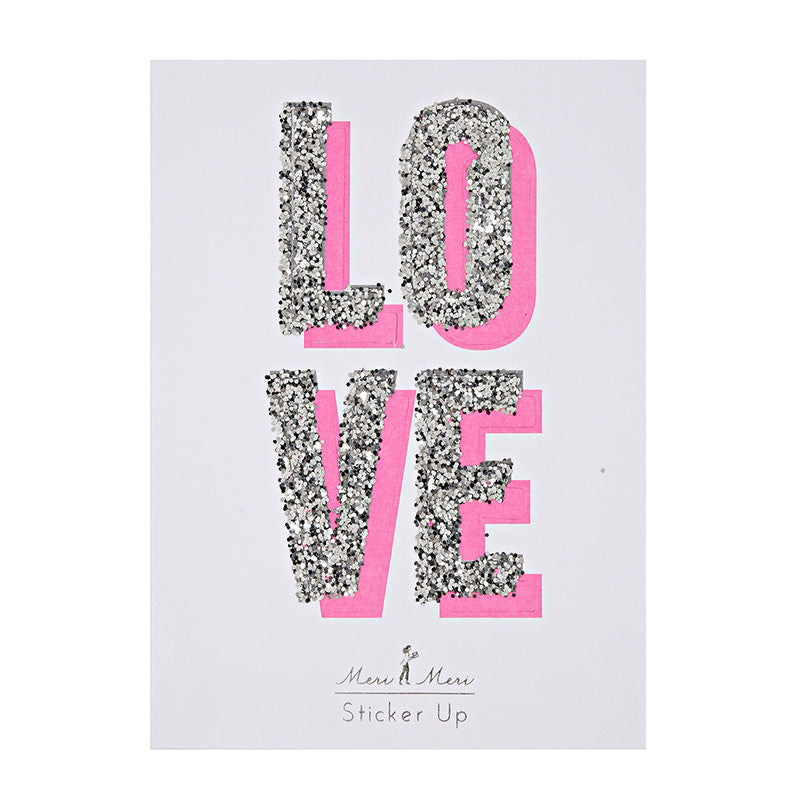 Glitter Love Stickers