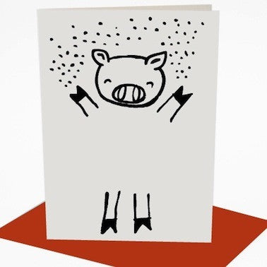 Dress Up Pig Card