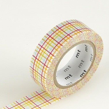 Masking Tape Single Roll - Koushi Grid Red